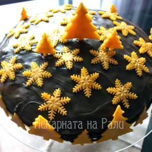 Шоколадова торта с марципан