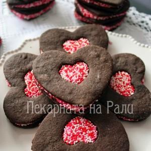 Шоколадови бисквитки с маслен крем