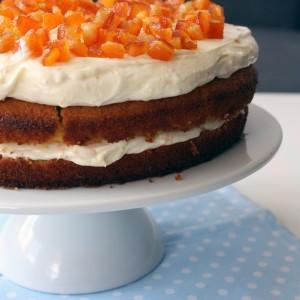 Портокалова торта с лек крем