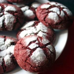 Напукани бисквитки - Червено кадифе