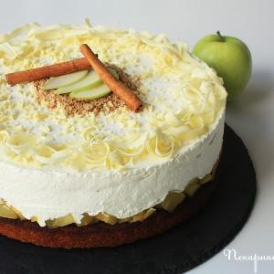 Ябълкова торта с мед и канела