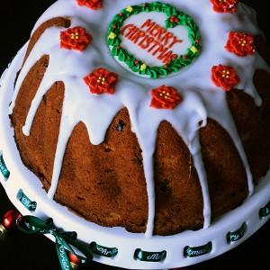 Коледен плодов кейк